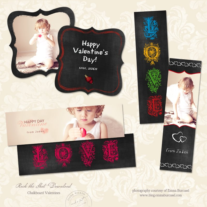 Valentine's Day Templates:  FREE DOWNLOAD