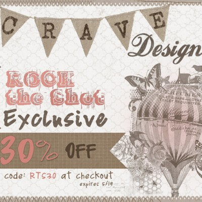 Featured Vendor + Exclusive Discount:  Crave Design