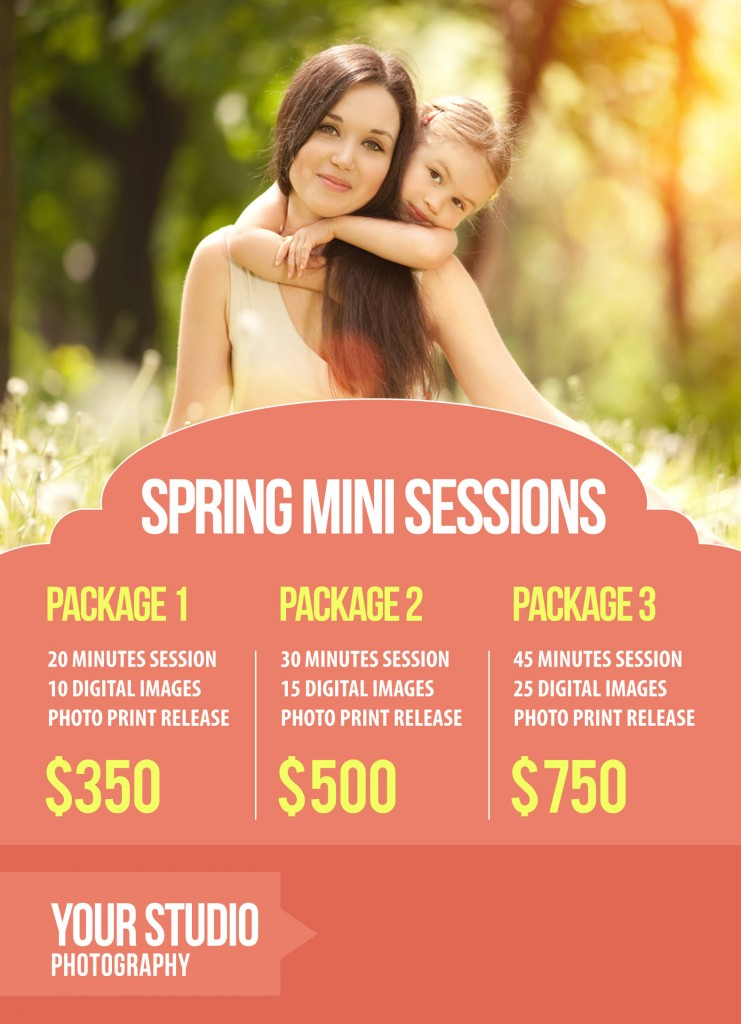 Free gift mini session marketing template for Free mini session templates