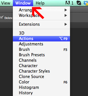 how to use photoshop actions cc