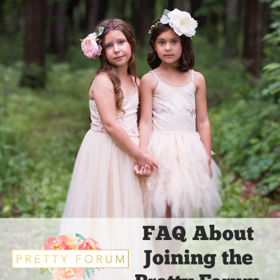 FAQ About Joining the Pretty Forum