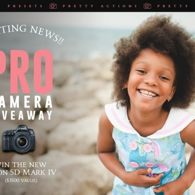 PRO CAMERA GIVEAWAY: CANON 5D MARK IV DSLR CAMERA {$3500 VALUE}